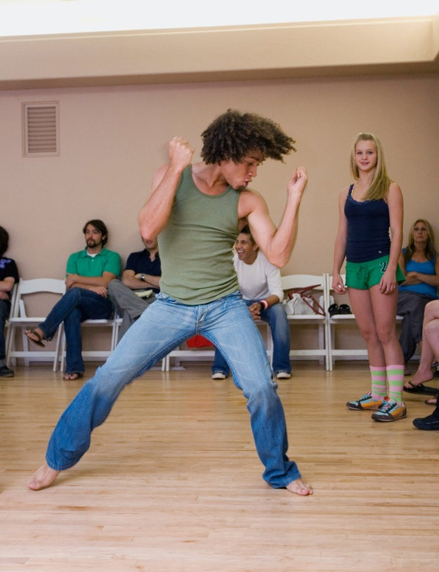And finally, here's a picture of Corbin Bleu rehearsing on the set of High School Musical 2. You're welcome.