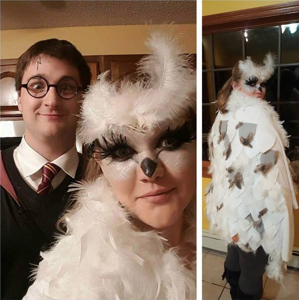 harry and hedwig at a potter themed halloween party i was finding