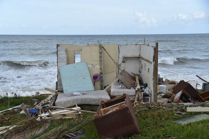 A house destroyed by Hurricane Maria in Yabucoa.