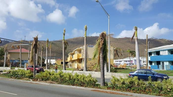 Pearson Gardens, a public housing development on St. Thomas in the US Virgin Islands.