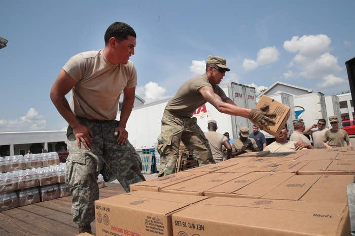 Relief efforts in Orange, Texas