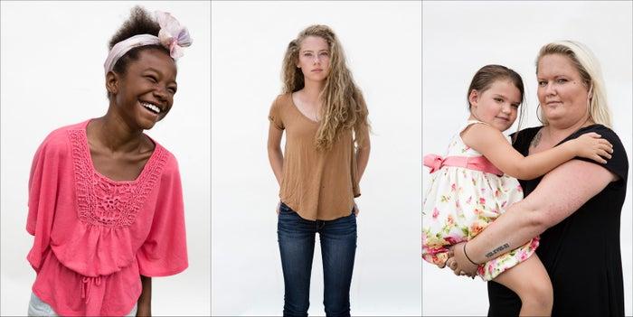 Neveah Harris, Josie Morris, Stephanie Conley, and her daughter, Hallie.