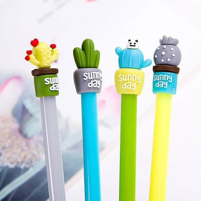 """Promising Review: """"The pens are super cute and have a very fine tip, which is perfect for a bit of line work or just for notes. I have given a couple to the ladies in my office and they love them, too!"""" –SariahGet it from Amazon for $.99+."""