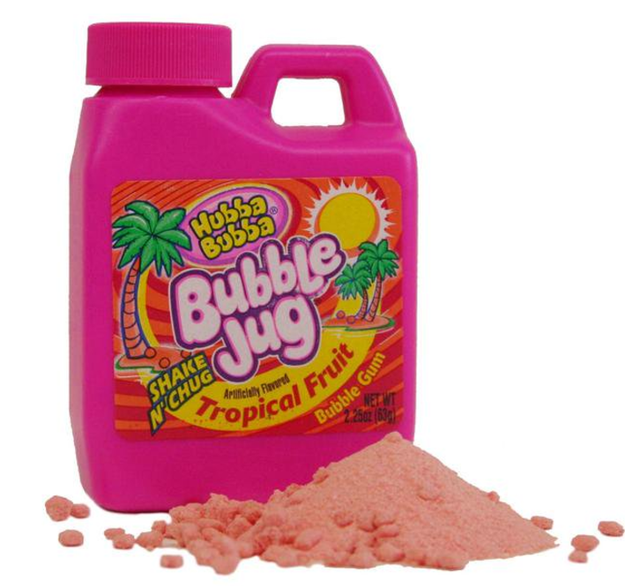 That gum which started off as dust then just magically turned into gum in your mouth.