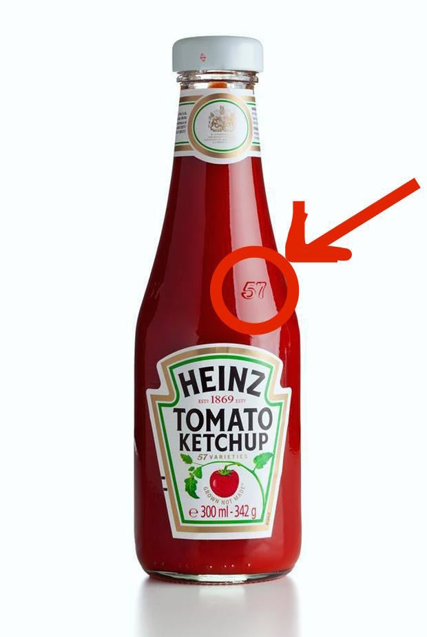 """The simple reason: According to Heinz, this is the """"sweet spot"""" on glass Heinz bottles. If you tap with your palm on that spot, then the ketchup should come out more easily. So, stop banging on the bottom of the bottle."""