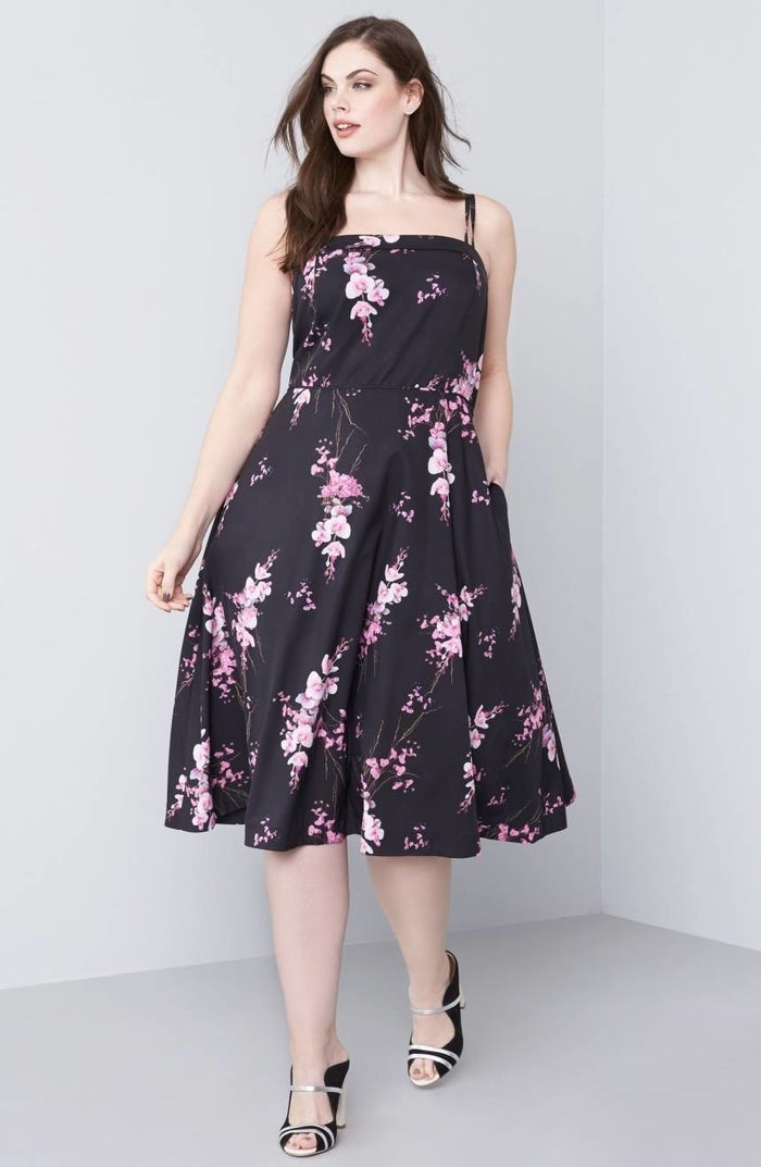 """Promising Review: """"Buying a dress online is always tricky when you're plus size. Much to my surprise, when I put this dress on I almost cried! It fit in all the right places! I finally felt beautiful as a plus-size woman and that someone actually cared about designing a dress that didn't make me feel frumpy."""" —MommaMarinePrice: $83.30 (originally $119). Available in plus sizes XS-XXL."""