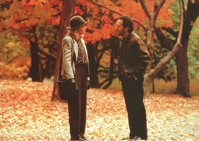 """""""It always gets me in the mood for fall because the feeling of best friends turned into lovers over a course of time is effortless. But the soundtrack to this film always puts me in the mood. It's beautiful and the humor is perfect."""" – Brittany Desjardins, Facebook""""It isn't a fall movie if there aren't a lot of leaves and cozy-looking clothes."""" – Colleen Sweeney, Facebook"""