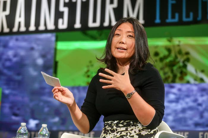 Niniane Wang speaks at the Fortune Brainstorm Tech Conference in Aspen, Colorado, in July.