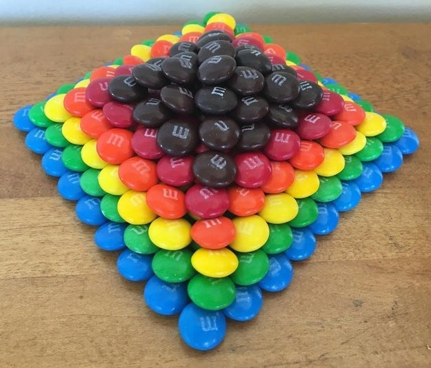 This pyramid made of M&M's: