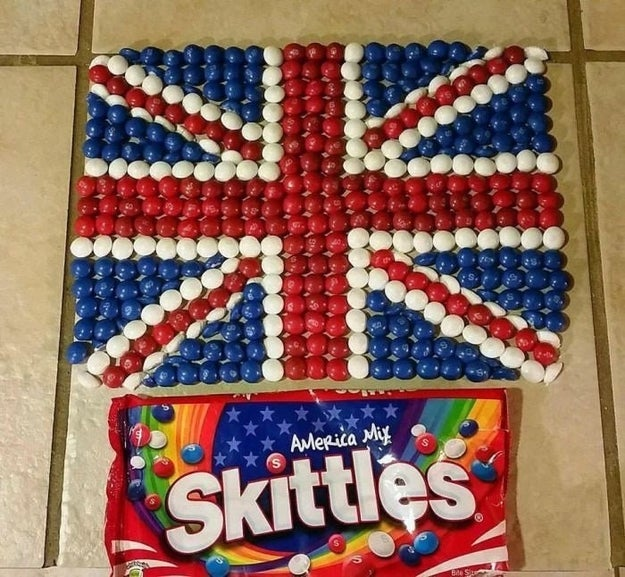 This British Skittles fan.