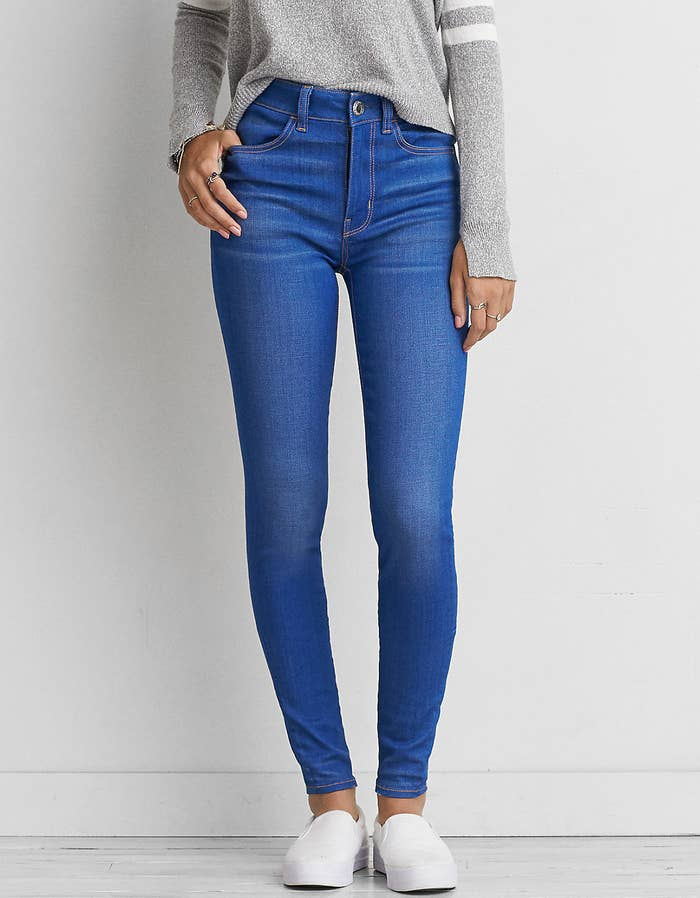 aae74e11702 American Eagle's high-rise jeggings have a unique fit you're pretty much  guaranteed to fall in love with.