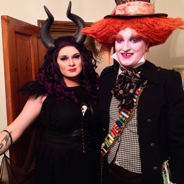my fianc and i went as maleficent and the mad hatter for a disney