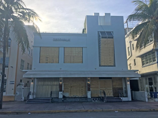 Cerda works at the front desk of the Victor Hotel on Ocean Drive, and said on Thursday night they'd warned all guests they had 24 hours to evacuate. She said the hotel would close until Monday.