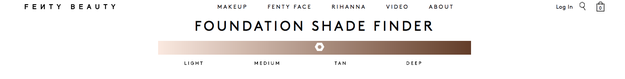But as I was scrolling through the website, I couldn't stop playing with this amazing feature: foundation shade finder.
