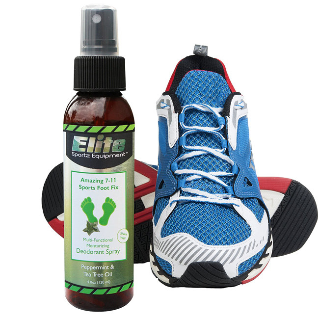 a peppermint foot and shoe spray to moisturize your feet while fighting that unbearable shoe stench