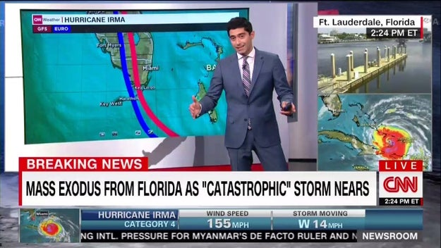They have meteorologists in the studio following the storm's movements ...