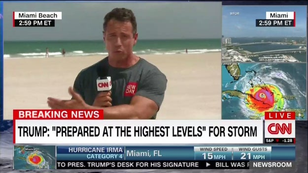 And they have an absolutely swole Chris Cuomo looking jacked AF while wearing a T-shirt on Miami Beach.