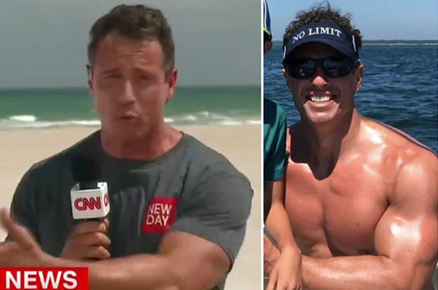 People Are Thirsting Over CNN's Chris Cuomo Wearing A T-Shirt While Reporting From Florida