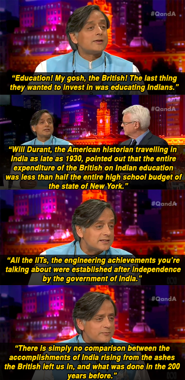 Shashi Tharoor Was Asked Where India Would Be Without The British, And It Brought Out All His Sass