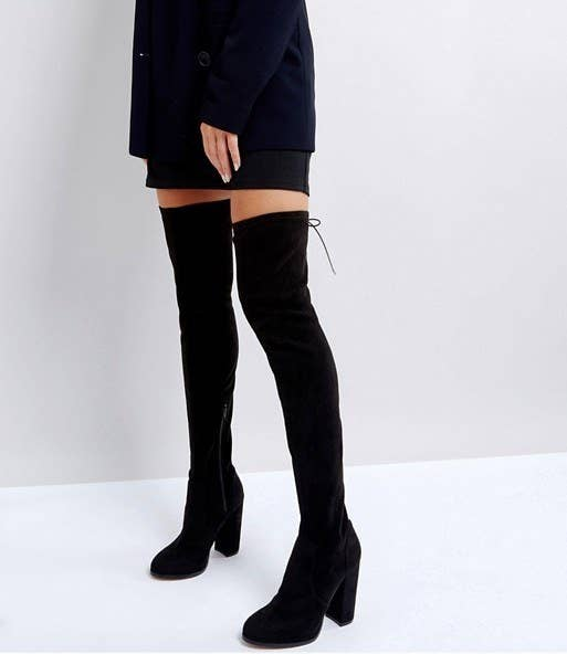 6ea40f71606 A pair of over-the-knee boots that come in a variety of lengths and widths