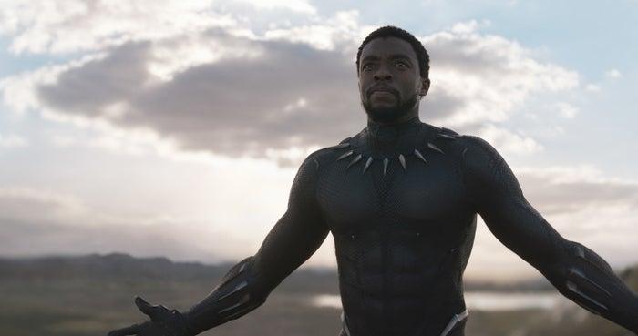 Chadwick Boseman in Black Panther.