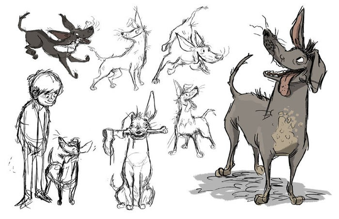 The character and his personality arose after seeing the xoloitzcuintls in Mexico. His skin, lack of teeth, and even certain movements were inspired by real xolos.