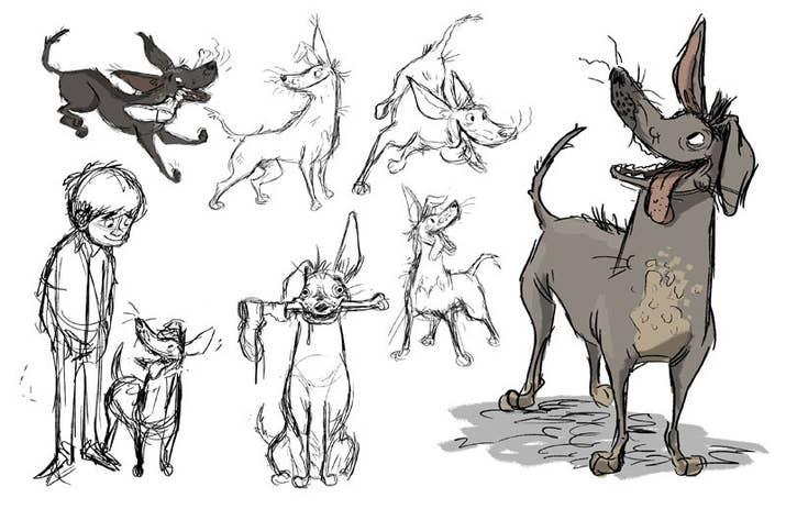 El personaje y su forma de ser surgieron después de ver los xoloitzcuintles en México. Su piel, la falta de dientes y hasta ciertos movimientos fueron inspirados en xolos reales.