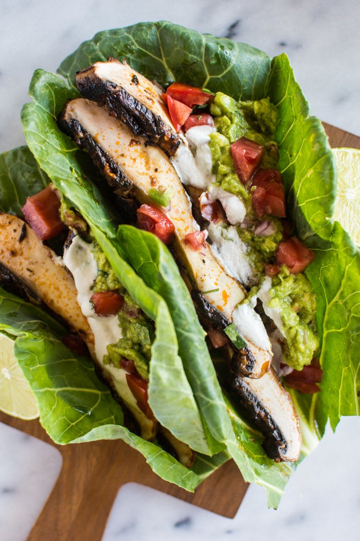 Pop these six-ingredient marinated mushrooms into a wrap, on top of a rice bowl, or in lettuce wraps to make better-for-you tacos. Get the recipe.