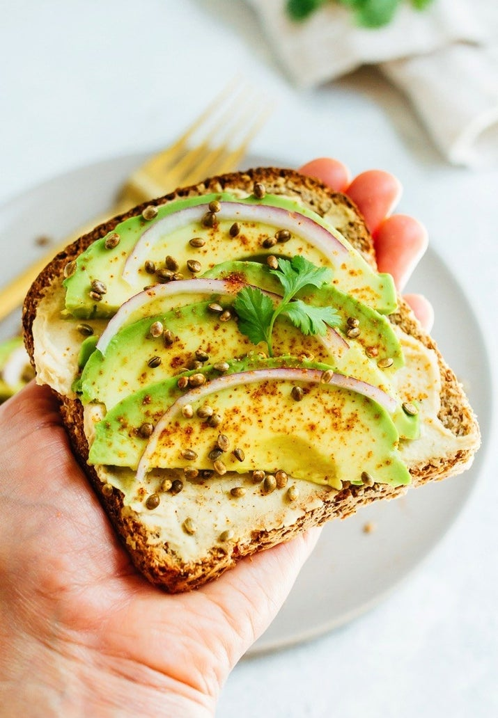 You can get creative and top this protein-packed toast with anything from cucumbers and tomato to tahini and pomegranate. Get the recipe.