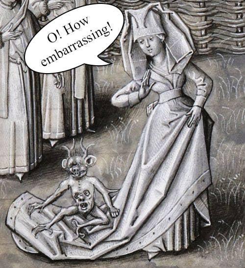 キリスト教徒は、特に生理を大いに懐疑的に見ており、女性の生理用ナプキンを「不潔なラグ」または「醜悪なクラウト」と呼んだ。きっと「Monstrous(醜悪な)」と「Menstrous (生理の)」の言葉遊びを楽しんだことだろう。