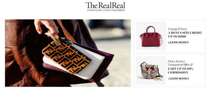 Known for its vast collection, the American based website, The RealReal has an assortment of Luxury fashion and art that you can shop. The website lets consignors earn as high as 70% and will send a team member to collect your items in case you don't want to deal with the hassle of shipping your items. It's a front-runner in its industry and has recently expanded its presence to Japan.