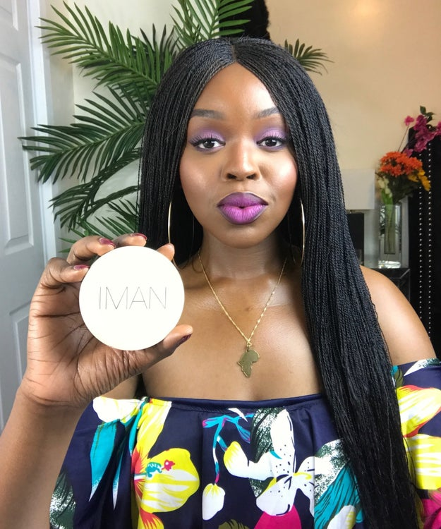 IMAN Perfect Response Oil Blotting Powder in Deep because the one and only Miss J. Alexander clearly approves.