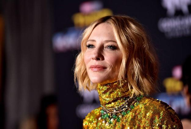 Cate Blanchett in mood lighting.