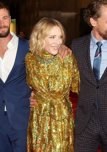 Cate Blanchett looking in another direction.