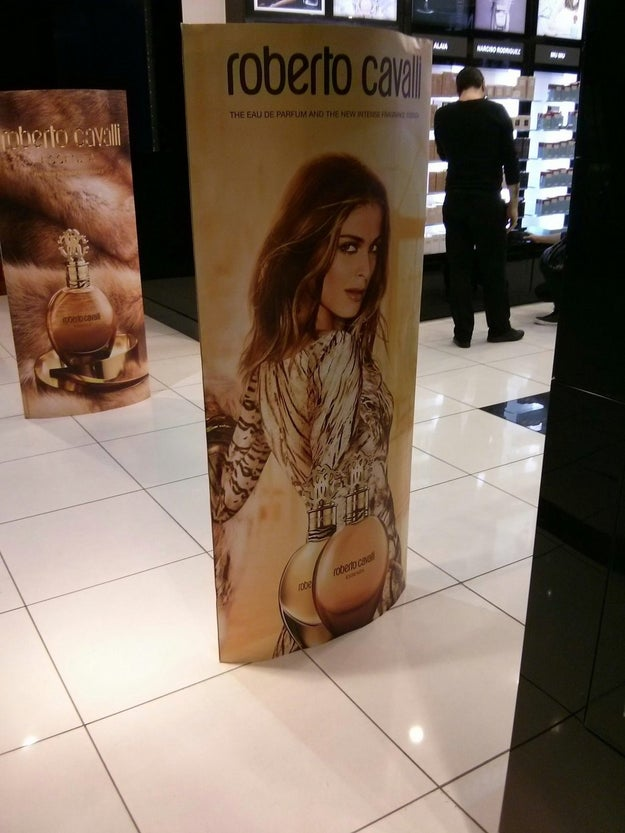 This model is not showing off her buttcheeks.