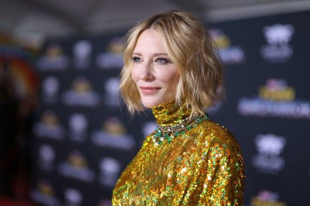 Cate Blanchett in regular lighting.