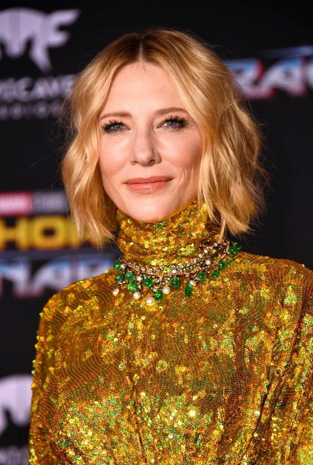 Cate Blanchett looking.