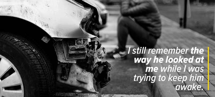 Witnessing an accident is a life-changer, at least in my experience.It happened on the 12 September 2011, and it still haunts me today. I was only 16 at the time. I've always been quite an anxious person, but having this person feeling like he was dying in my arms sent me spiralling into depression, anxiety, and panic attacks. I still remember the way he looked at me while I was trying to keep him awake. The worst part is that I'll never know if he survived or not. Over the years, I've tried to look for him, but I've had no luck.– Chiara F