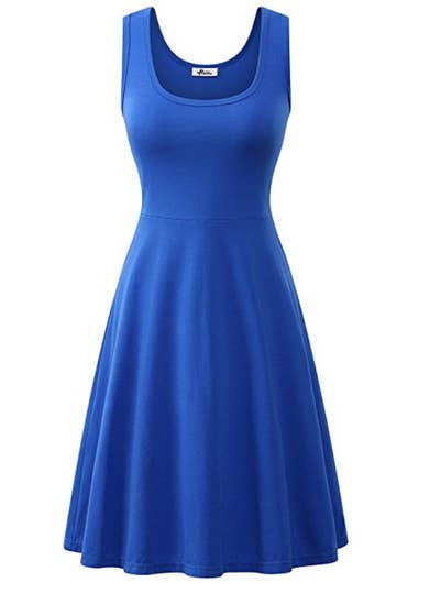 create a sweet and simple belle look with this royal blue dress