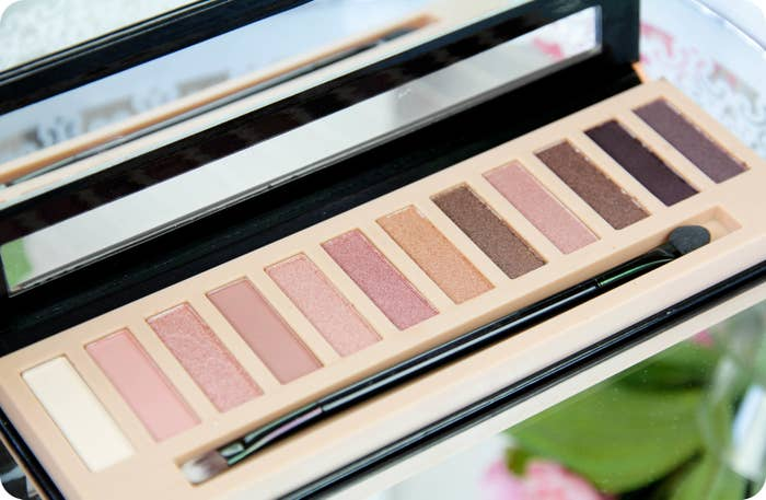 """Promising Review: """"I was looking for some nude eyeshadows, but some are so expensive, and I can't justify spending that much. So when I came across this palette, I decided to give it a try, and wow I am so happy with my purchase! This palette is so pretty, and the shadow is so smooth and easy to apply."""" —Monica from A Southern Girls BookshelfGet it from Amazon for $5.99 or Jet for $6.23."""
