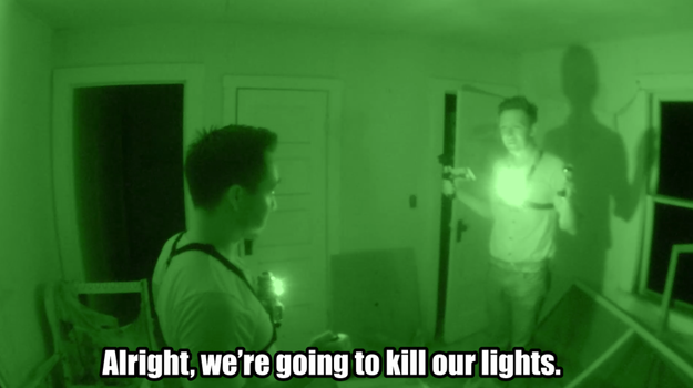 The guys decided to shut off their lights for a few minutes in an attempt to contact the children who once attended the school.
