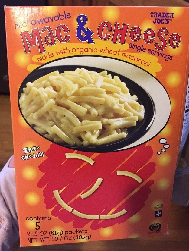 It's actually really good mac and cheese! It's also perfect for the nights when my husband and I want something spicy to eat. Our 5-year-old isn't a fan of spice so this saves me from having to make an entire meal just for him. It's also great for a quick snack, even for myself. —callscotlandyard