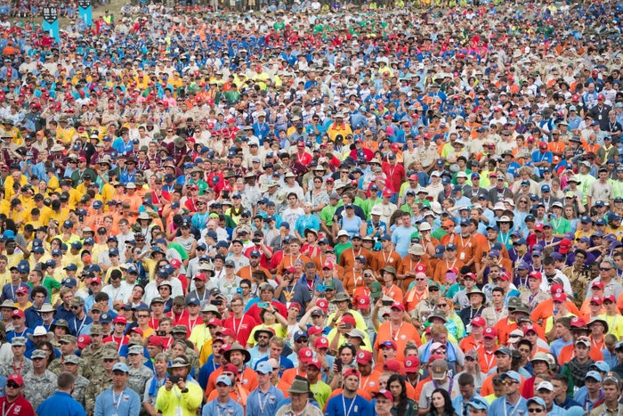 The National Boy Scout Jamboree in West Virginia in July.
