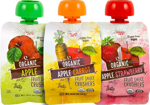My kids love the applesauce packets. I usually buy the apple/carrot mix for them to eat. They would eat them with every meal if I let them.—oliviajadel