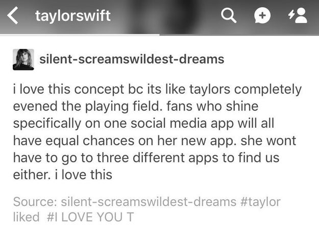 Taylor's already liked this post about The Swift Life on Tumblr.