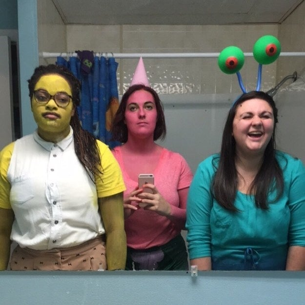 """My friends and I were SpongeBob, Patrick, and Gary. We looked great all together, but when separated at parties everyone just asked if I was a unicorn or something."" —staceyf42e794401"