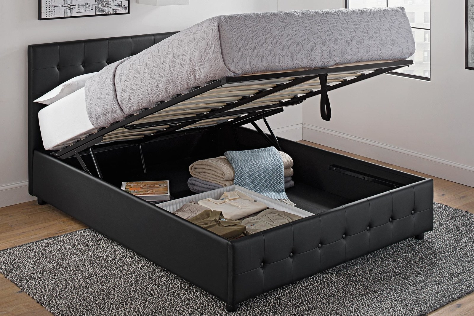 Beau A Storage Bed To Help You Survive And Thrive In A Tiny Ass Apartment With  Zero Closet Space.