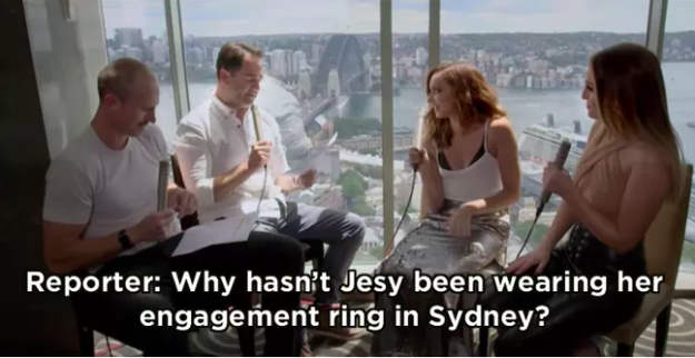When Jesy was going through a breakup and this reporter decided to ask the other girls about it.