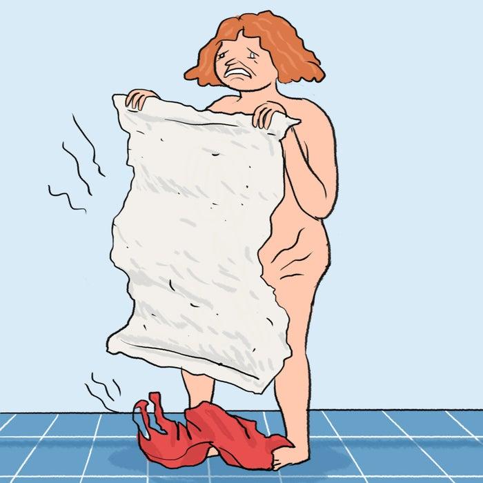 Il n'y a rien de pire que de vous sentir toute propre en sortant de la douche et de devoir ensuite vous essuyer avec une serviette qui n'a pas eu le temps de sécher.