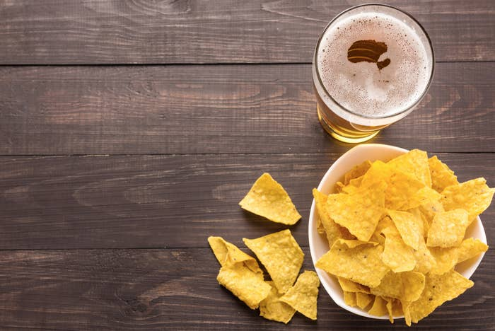We realize this is an entirely different food, but look at how lonely these poor nachos are without a few tacos to be buddies with on their special day.